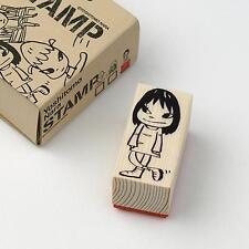 Nara STAMP wood / M size Girl ❤ Yoshitomo Nara Japan Art