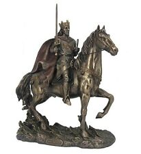 "11.75"" King Arthur On Horseback w/ Excalibur Medieval Knight Horse Statue"