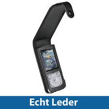 Schwarz Echte Leder Tasche für Sony Walkman NWZ-S765 S765B S765W Case Hülle