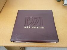 1971 Buick Dealer Album Color Trim Upholstrey book Skylark GS Lesabre Riviera