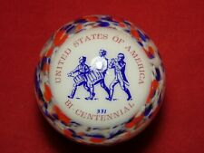 New listing Woods United States Of America Bi-Centennial Glass Paperweight