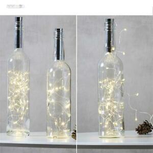 LED-Korken-Lichterkette Batteriebetrieb Timer, Flachenlicht, Flaschenbeleuchtung