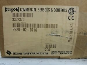 Texas Instruments, PS80-02-0716 (309063), Pressure Switch