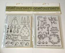 Conjuntos de sello transparente onefourzero-Holly & Ivy y Oh Árbol De Navidad!