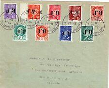 N°1-2-4-5-6-7-9-10-11-PONS-CHARENTE M.-FFI-SURCHARGE INVERSÉE-PÉTAIN-RARE-09/44
