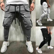 1 Pc Men Fashion Pants Cargo Overalls Streetwear Joggers Hip Hop Sweatpants Casu