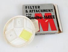 FILTER   ATTACHMENT FOR MINOLTA-16EEII IN ORIG. BOX