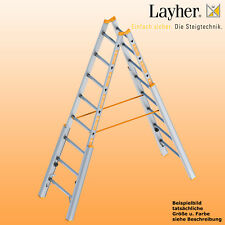Layher Alu Treppenstehleiter,  2x8 Spr., L=2,40m, Bockleiter,Topic Typ 1061.008