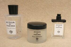 ACQUA DI PARMA Glass Jar & Bottle Plastic 200 ml Empty Bottles Point Of Sale