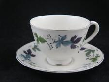 Replacement China Royal Doulton Cup & Saucer BURGUNDY T.C.1001 Discontinued