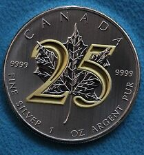 2013 Canada Maple Leaf Special Edition 25th Anniversary Gold Plated $5 Coin