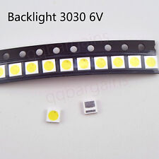 TV Backlight LED Diode SMD 3030 6V 1.8W Cool White LED 10PCS TCL Philips