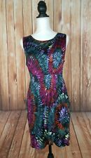 Womens S.L.E. Apparel Gorgeous Colorful Dress- Aztec Look- A-Line Small