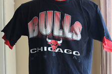 90s Chicago Bulls Shirt Faux Undershirt Large