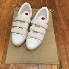 Burberry White Bert Hook and Loop Strap Sneakers size 9.5