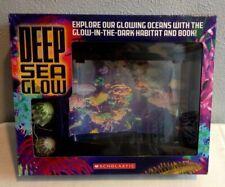 DEEP SEA GLOW SCHOLASTIC AQUARIUM GLOW IN THE DARK HABITAT & BOOK BRAND NEW NIB