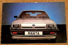 1981 OPEL MANTA Sales Brochure - GT/J & Berlinetta SR Coupe & Hatch