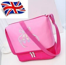 UK Stock Wow Sale Pretty Girls Kids BALLET BAG shoulder Dance Bag Sequin Pink