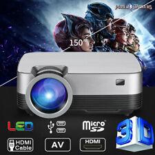 5000 Lumen 3D Heimkino Projektor Beamer HDMI Home Theater Full HD 1080P Media