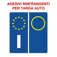 ADESIVI SIMBOLO ITALIA TARGA AUTO POSTERIORE EUROPA EUROPEA ANTERIORE qi