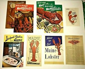 Lot of Vintage Maine Lobster Recipe Booklets