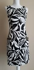 Lilly Pulitzer Dress Black White Artsy Floral Beads Rhinestones Sleeveless 2