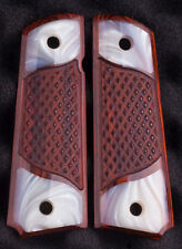 1911 fits Colt Rock Island Springfield Clones Grips Mother of Pearl Rosewood NOW