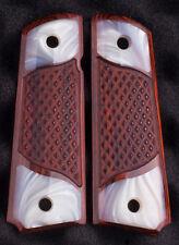 1911 Colt & Clones Custom Gun Grips Mother of Pearl Rosewood Full Size 1911 IMOP