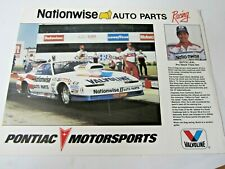 Nhra 1987 Nationwise Auto Parts Racing Team Pontiac Drag Racing Track Handout