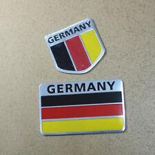 1PC Big + 1PC Small Germany Metal Flag Emblem Sticker Badge Car Motor Premium 3D