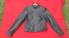 Ladies Olive Leather Bomber Jacket Size 10 New Look