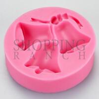 Wedding Bells Silicone Mould Cupcake Cake Topper Mould 3 Bell Design