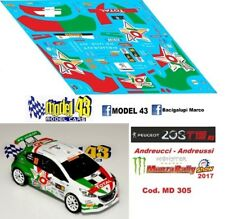 DECAL  1/43 -  PEUGEOT 208 R5  -  ANDREUCCI  - Rally MONZA  2017