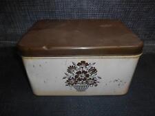 Old Vtg DECOWARE Metal BREAD BOX Kitchen Decor Eames Era Retro Kitchenware