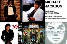 MICHAEL JACKSON 5 LP AUDIOPHILE VINYL Lot WALL THRILLER BAD DANGEROUS INVINCIBLE