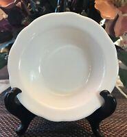 Buffalo China Restaurant Style Scalloped White Bowls Set of 2