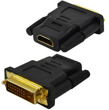 DVI-D (24+1) 25 Pin Male To HDMI Female Adapter Connector Converter Gold Plated