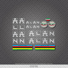0318 Alan Bicycle Stickers - Decals - Transfers - Silver
