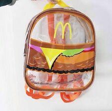 McDonald's Burger Clear Backpack Grunge Unif Festival Summer School College Bag