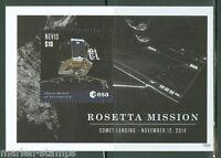 NEVIS  2015  ROSETTA MISSION  SOUVENIR SHEET  MINT NH