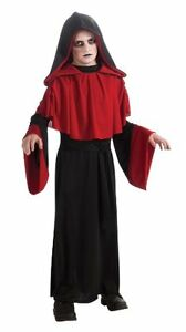 Deluxe Gothic Overlord Boys Red Black Robe Costume, Rubies 881449
