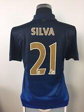SILVA #21 Manchester City Away Football Shirt Jersey 2014/15 (M)