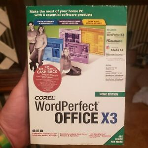 Corel WordPerfect® Office X3 Home Edition - Sealed Free Shipping