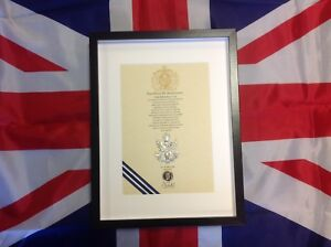 Queens Own Highlander's Oath Of Allegiance With Original Cap Badge