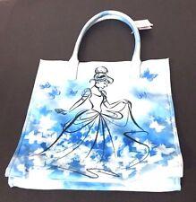 Disney Parks Blue Cinderella Butterfly Tote Shoulder Bag Purse Floral