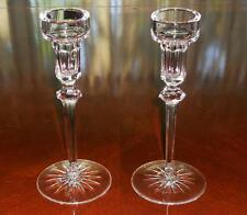 "Rogaska ""Richmond"" Fine Crystal Tall Candlesticks 8""  Pair Signed Excellent"