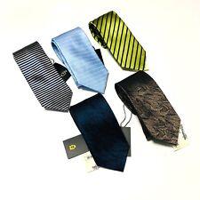 Assorted Silk Geometric Neck Ties Mens Accessories Classic Width NWT LOT 5