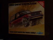 Chevrolet - Chevy S-10 Blazer - Catalogue 1983