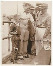 BOXING - Welterweight Champ YOUNG CORBETT III Helps Young Fisherman - 1933 Photo
