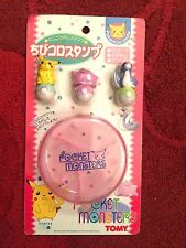 Pokemon Authentic Japanese Roller Stamp Set Pikachu Ditto Dratini Tomy New RARE!